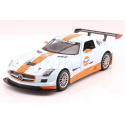 Mercedes-Benz SLS AMG GT3 Gulf Series kovový model auta MotorMax 1:24