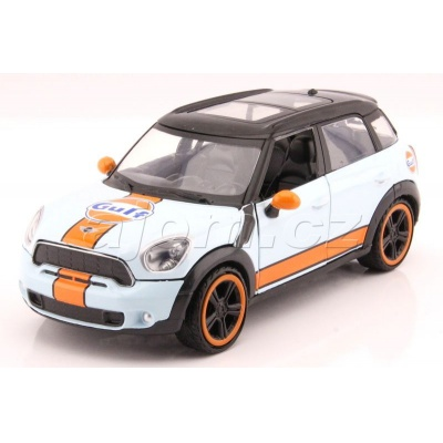 Mini Cooper S Countryman Gulf Series kovový model auta MotorMax 1:24