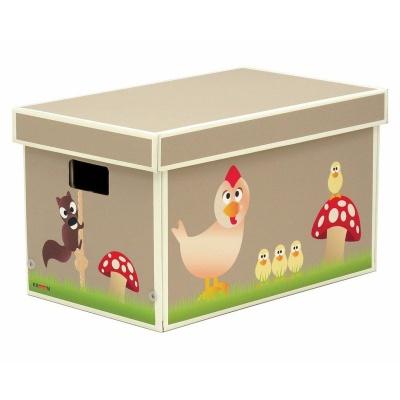 Krooom Krabice na hračky hnědá EKO výrobek