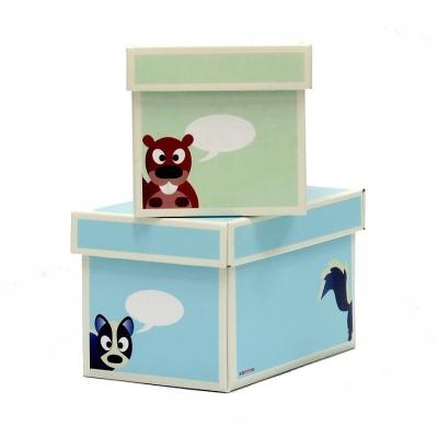 Krooom Krabice 2ks menší modrá a zelená EKO výrobek