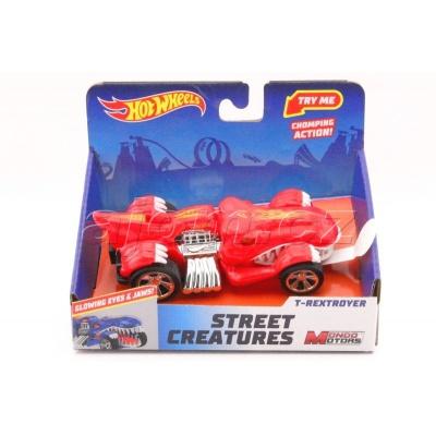 Hot Wheels Street Creatures T-Rextroyer Red světlo a zvuk