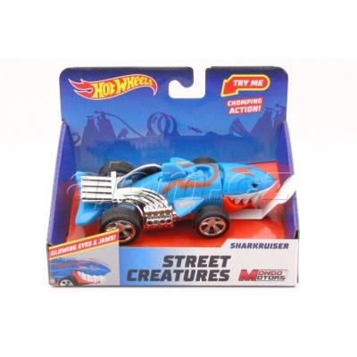 Hot Wheels Street Creatures Sharkruiser Blue světlo a zvuk