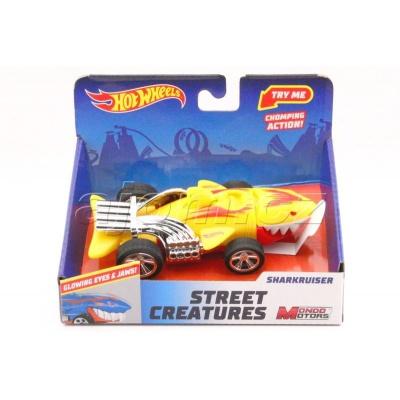 Hot Wheels Street Creatures Sharkruiser Yellow světlo a zvuk