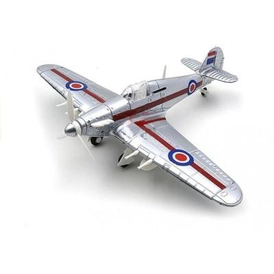 Model letadla Hawker Hurricane stříbrný