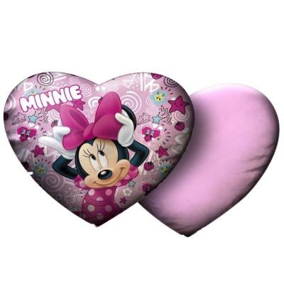 Polštářek Minnie srdce 33 x 31 cm