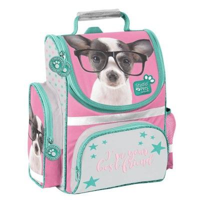 Školní batoh aktovka i pro prvňáčky Pejsek čivava s brýlemi