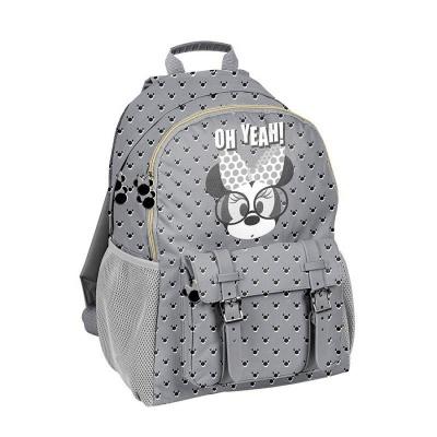 Školní batoh brašna s přezkami Minnie šedá
