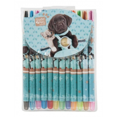 Pastelky 12 barev Pes a kočka