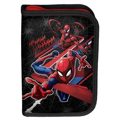 Školní pouzdro penál Spiderman - s chlopněmi a vybavením