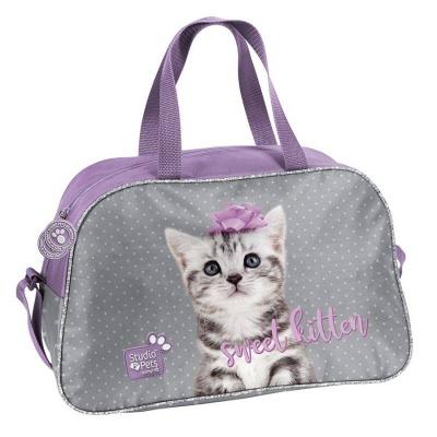 Dětská sportovní taška kabela Kočka s mašličkou