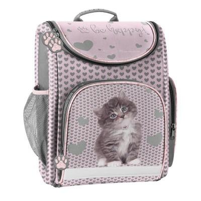 Luxusní školní batoh aktovka růžová Kočka i pro prvňáčky