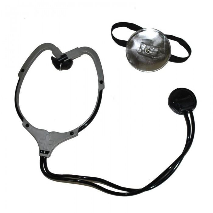 Sada doktor stetoskop a zrcátko