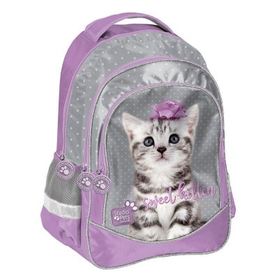Školní batoh brašna Kočka s mašličkou