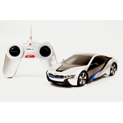 RC model BMW i8 auto na dálkové ovládání 1:24 stříbrný
