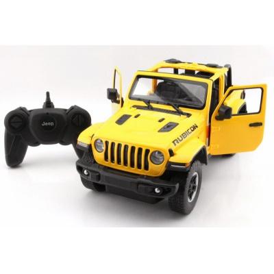 RC model Jeep Wrangler Rubicon auto na dálkové ovládání 1:14 žlutý