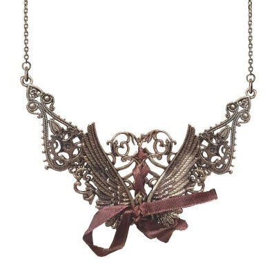Náhrdelník křídla steampunk