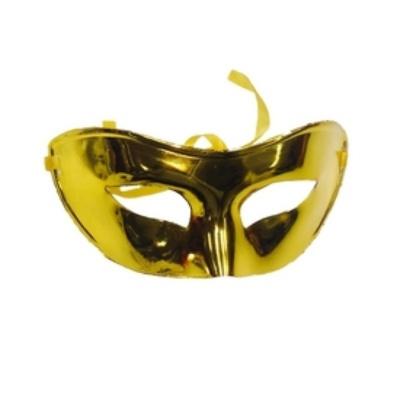 Škraboška maska zlatá