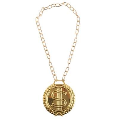 Řetěz s medailonem Dolar