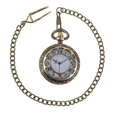 Kapesní hodinky s řetízkem steampunk