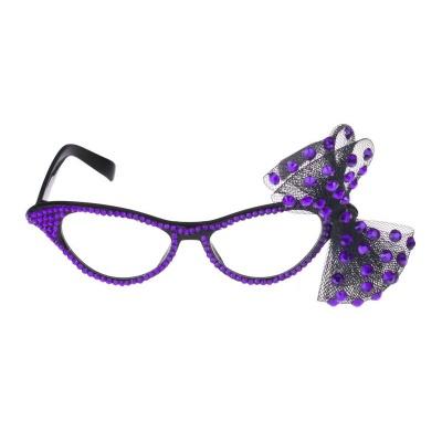 Retro brýle s mašličkou - fialové
