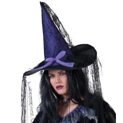 Klobouk čarodějnice s pavučinami
