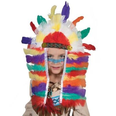 Indiánská čelenka velká barevná