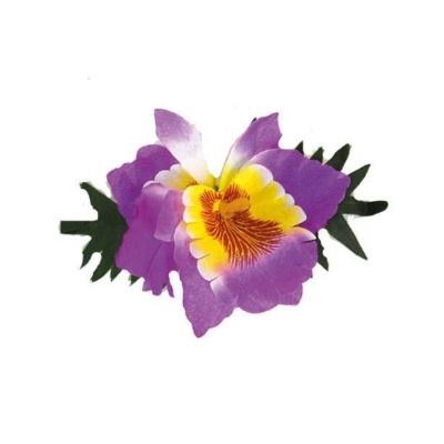 Spona havaj fialový květ 14cm