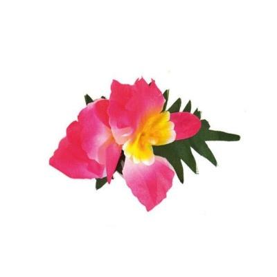 Spona havaj růžový květ 14cm