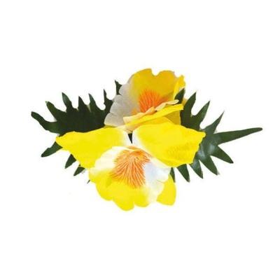 Spona havaj žlutý květ 14cm
