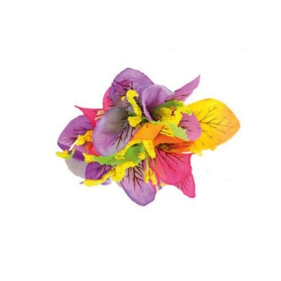 Spona havaj barevné květy 9cm