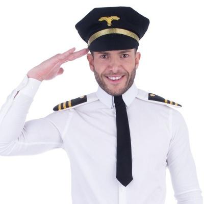 Sada Pilot - čepice, kravata a výložky