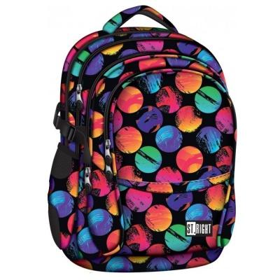 Studentský školní batoh ST.RIGHT Colourful Dots