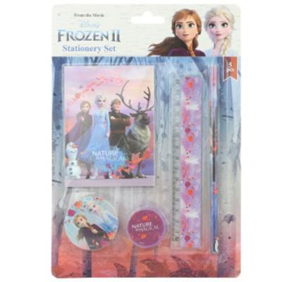 Sada na psaní Frozen Ledové království 2 - blok, tužka, ořezávátko, pravítko a guma