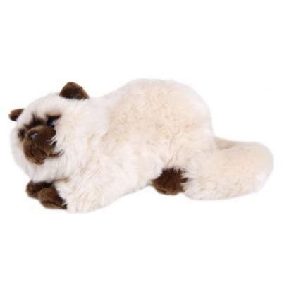 Plyšová Kočka ležící béžová 42cm