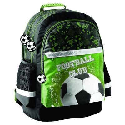 Školní batoh brašna Fotbal zelený