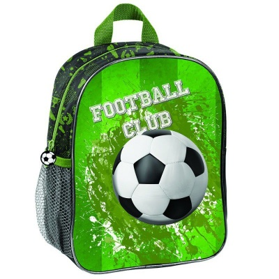 Dětský batoh malý 3D efekt Fotbal zelený