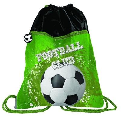 Batoh pytel vak s přední kapsou Fotbal zelený
