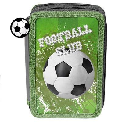 Školní dvoupatrové pouzdro penál Fotbal zelený