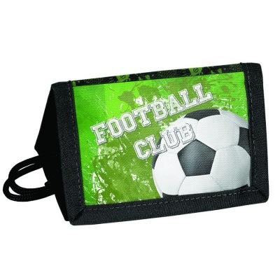 Textilní peněženka Fotbal zelený