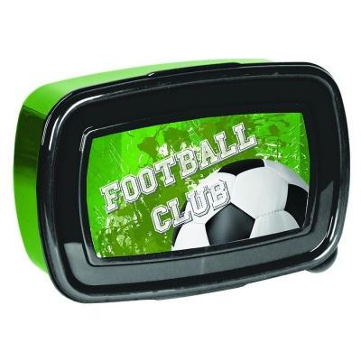 Svačinový box krabička na oběd Fotbal zelený