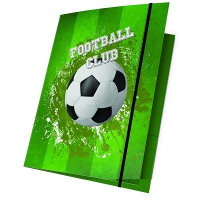 Desky s gumou A4 Fotbal zelený