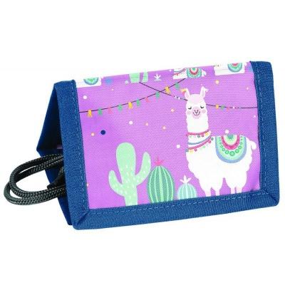 Textilní peněženka Lama Hola