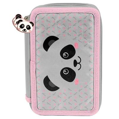 Školní třípatrové pouzdro penál Panda