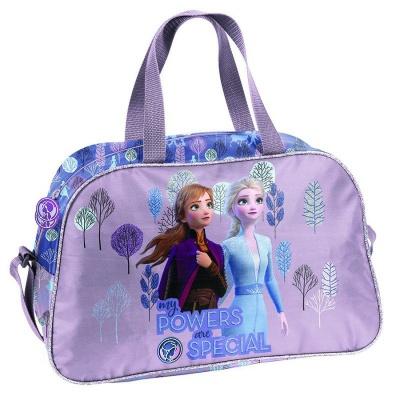 Dětská sportovní taška kabela Frozen 2 Ledové království fialová
