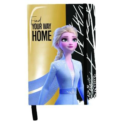 Notes diář A5 s lesklým obalem Frozen 2 Ledové království Elsa