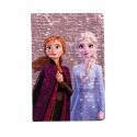 Notes diář A5 s flitry Frozen 2 Ledové království fialový