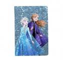 Notes diář A5 s flitry Frozen 2 Ledové království modrý