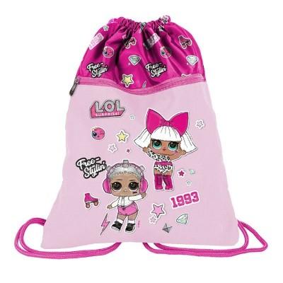 Školní pytel vak sáček s přední kapsou panenky LOL Surprise