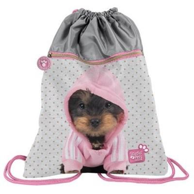 Batoh pytel vak s přední kapsou Pes v mikině
