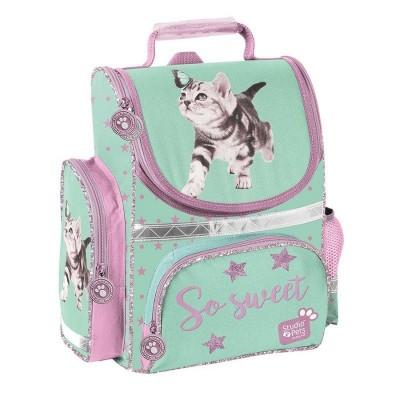 Školní batoh aktovka i pro prvňáčky Kočka s motýlem